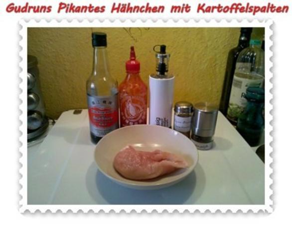 Geflügel: Pikantes Hähnchen mit Kartoffelspalten - Rezept - Bild Nr. 3