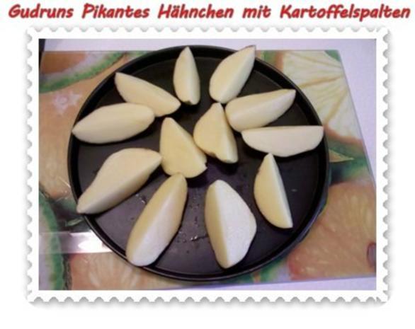 Geflügel: Pikantes Hähnchen mit Kartoffelspalten - Rezept - Bild Nr. 5