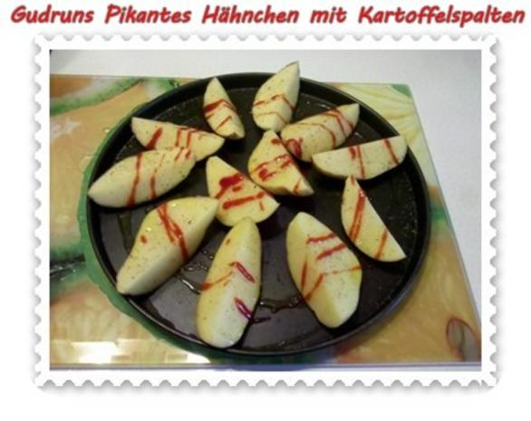 Geflügel: Pikantes Hähnchen mit Kartoffelspalten - Rezept - Bild Nr. 7
