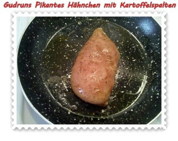 Geflügel: Pikantes Hähnchen mit Kartoffelspalten - Rezept - Bild Nr. 10