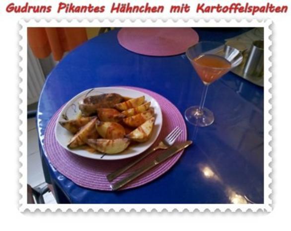Geflügel: Pikantes Hähnchen mit Kartoffelspalten - Rezept - Bild Nr. 16