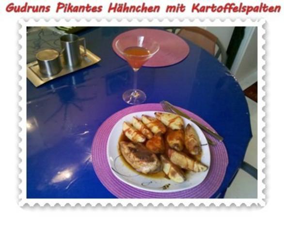 Geflügel: Pikantes Hähnchen mit Kartoffelspalten - Rezept - Bild Nr. 17