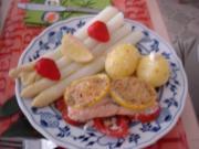Lachsfilet mit Spargel und Kartoffeln - Rezept