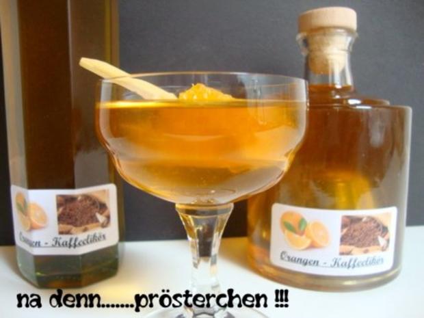 Orangen-Kaffee Likör - Rezept