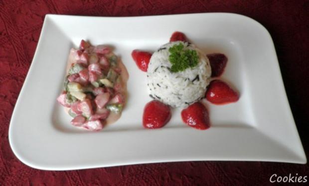 Grüner Spargel und rote Erdbeeren - ein Traumpaar  ... - Rezept - Bild Nr. 2