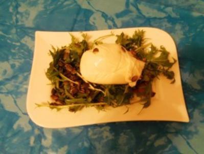 Salat:Burrata mit Rucolasalat - Rezept