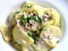 Zucchini-Pfanne mit Mett - Rezept