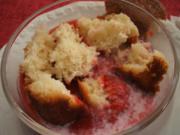 Backen: Vanillebuchteln mit dicker Erdbeermilch - Rezept