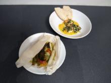 Riesen Garnelen Provence mit Gemüsepäckchen - Rezept