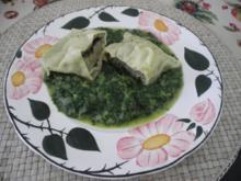 Maultaschen auf Spinat - Rezept
