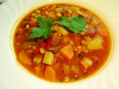 Serbische Bohnensuppe ... - Rezept