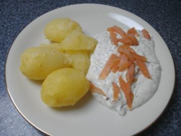 Kartoffeln mit Lachsquark - Rezept