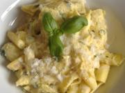 Conchiglioni mit Spargel,Safran und Ricotta - Rezept