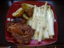 Wiener Schnitzel mit Spargel und Rosmarinkartoffeln - Rezept