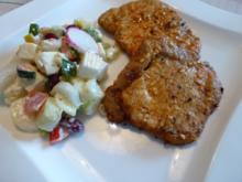 Marinierte Grill-Steaks mit Bauernsalat - Rezept