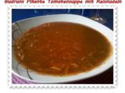 Suppe: Tomatensuppe mit Reisnudeln - Rezept
