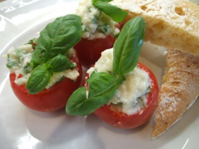 Gemüse: Tomaten, gefüllt mit Mozzarella-Creme - Rezept