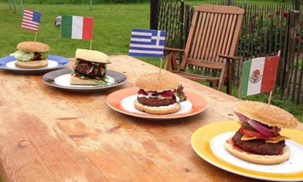 BBQ Burger griechisch - Rezept