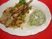 Fisch : Gegrilltes Seeteufelfilet. - Rezept