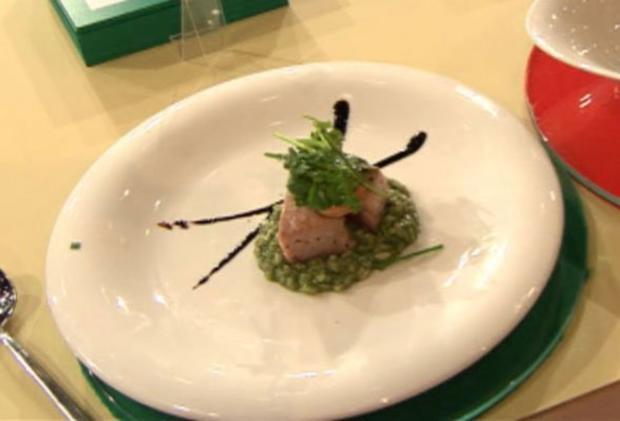 Thunfisch-Tataki mit auf Kräuterrisotto (Sebastian Deyle) - Rezept