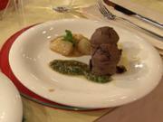 Schokoladenkuchen mit Mandel-Minzpesto und Pomelo (Fiona Erdmann) - Rezept