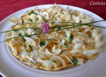 Nudel - Omelett italienisch angehaucht ... - Rezept