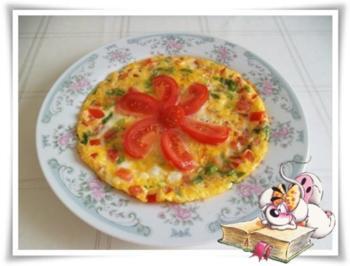 Sommerliches  Omelett mit Blümchen - Rezept
