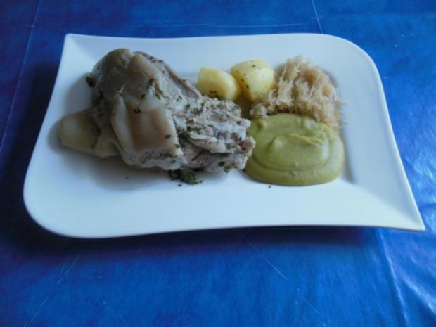 Kochen: Eisbein mit Erbspüree - Rezept - Bild Nr. 4