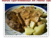 Geflügel: Cajun-Grillhähnchen mit Pikanter Soße - Rezept