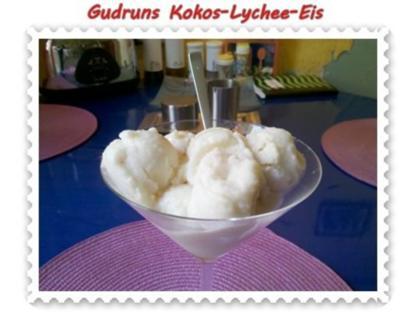 Eis: Kokos-Lychee-Eis - Rezept