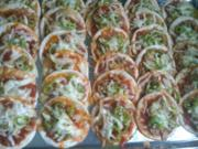 Mini Tortilla Pizzen - Rezept