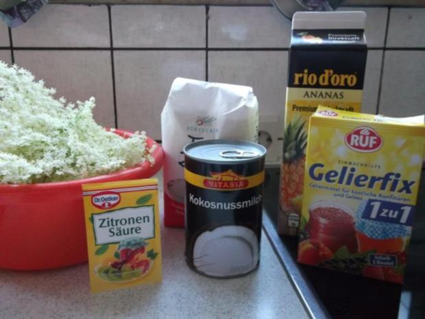 Ananas-Kokos-Holundergelee - Rezept - Bild Nr. 2