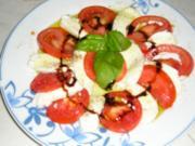 Tomaten-Mozzarella Salat - Rezept