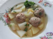 Kohlrabitopf mit Fleischklößchen - Rezept