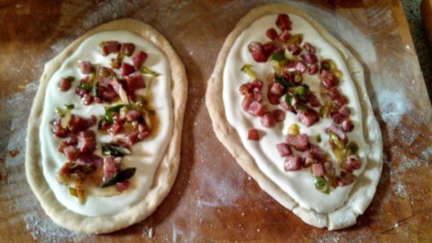 Flammkuchen aus Pizzateig - Rezept - Bild Nr. 3