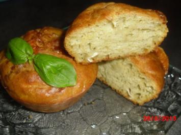 Muffin mit Camembert, Pesto und Kräuterquark = es müssen nicht immer süße Muffins sein. - Rezept