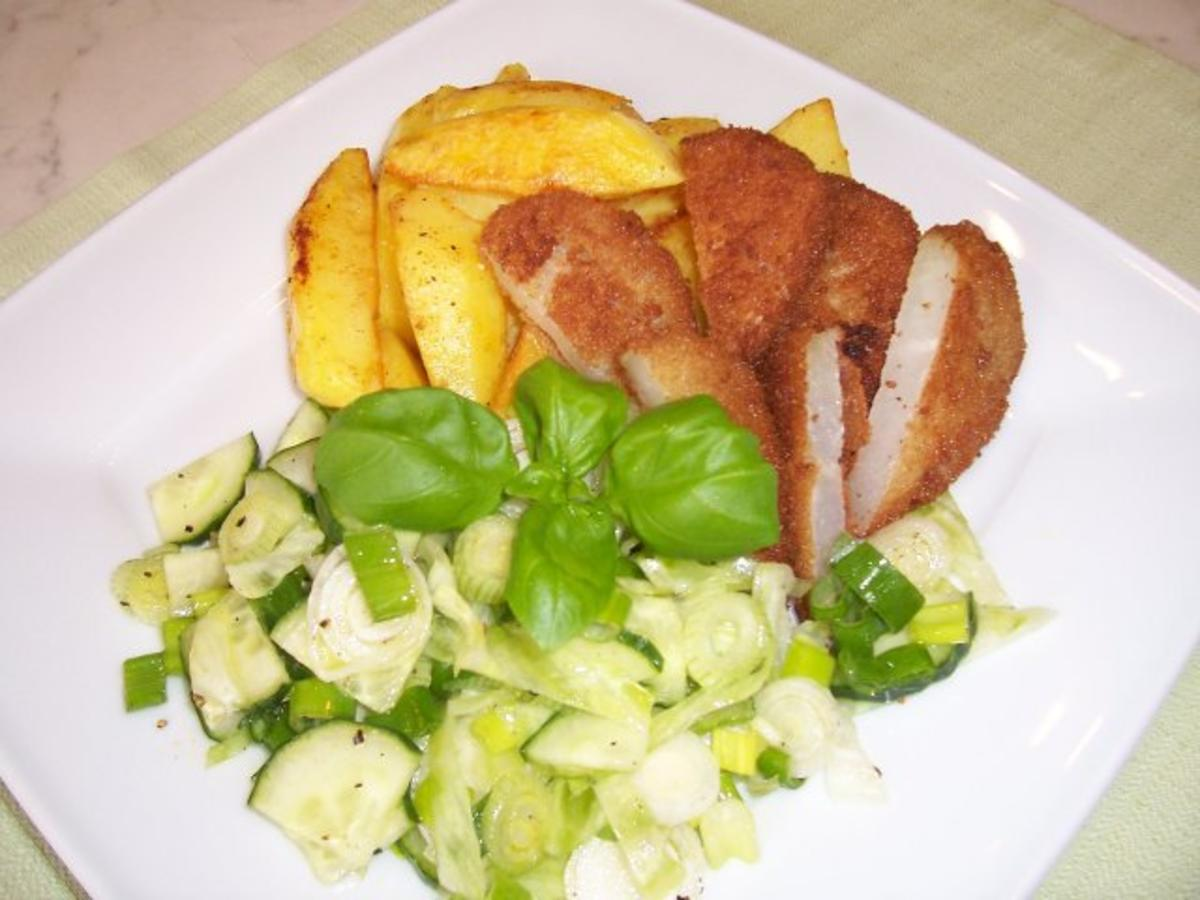 kohlrabi schnitzel mit backkartoffeln rezept. Black Bedroom Furniture Sets. Home Design Ideas