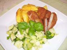 """Kohlrabi -"""" Schnitzel"""" mit Backkartoffeln - Rezept"""