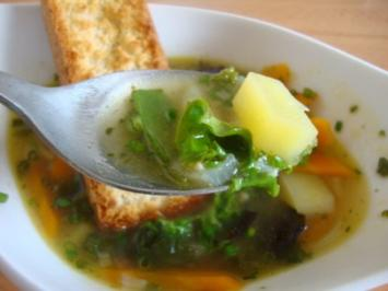 Kartoffel - Salat Süppchen - Rezept