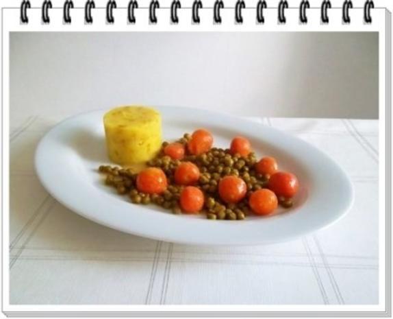 Würzige Stampfkartoffeln mit  Bulette und Gemüse dazu. - Rezept - Bild Nr. 12