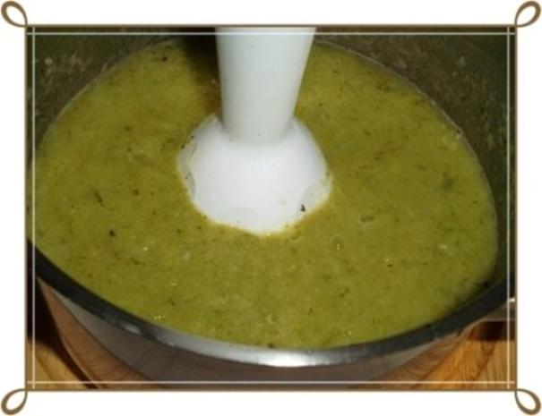 Lauch-Kartoffelcremesuppe  mit gewürfelter Wurst dazu. - Rezept - Bild Nr. 13