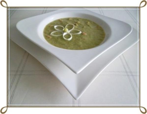 Lauch-Kartoffelcremesuppe  mit gewürfelter Wurst dazu. - Rezept - Bild Nr. 19