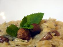 Risoni mit Pfifferlingen - Rezept