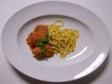 Maccaruna Salsa - Spaghetti mit scharfer Soße und Hackbällchen - Rezept