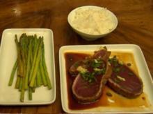 Scharf angebratener Thunfisch mit grünem Spargel (Manuel Cortez) - Rezept