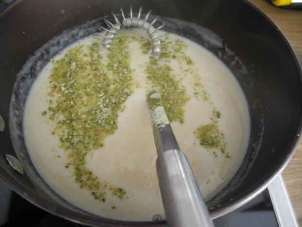 Spargel in Reis-Schlagcreme mit Schnittlauchkartoffeln und Gurkensalat - Rezept - Bild Nr. 12