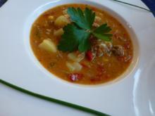 Suppe nach Gyros-Art - Rezept