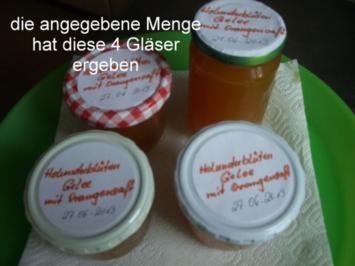 Holunder Blüten - Gelee - Rezept