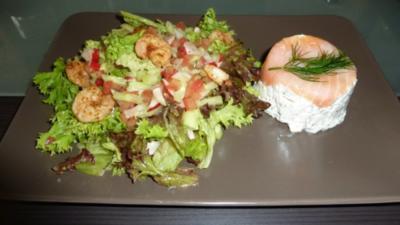 Garnelen-Lachs-Terrinchen mit frischem Dill - Rezept