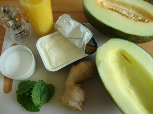 Kalte Melonensuppe mit Safran - Rezept - Bild Nr. 4